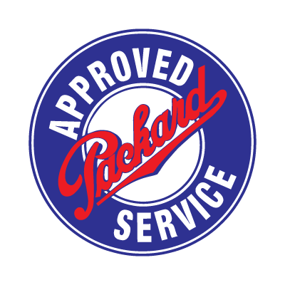 Approved packard service logo vector