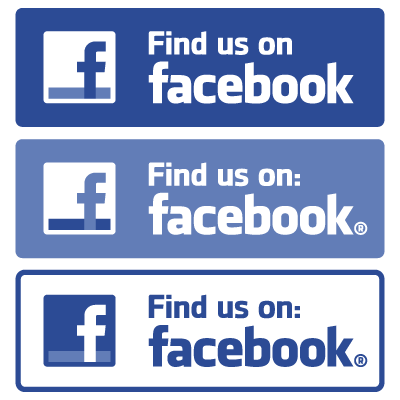 Find us on Facebook vector