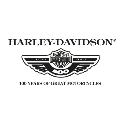 Vector logo Download Harley Davidson 100 years logo vector