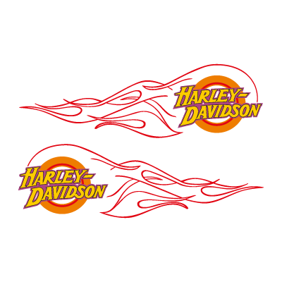 Vector logo Download Harley-Davidson flame logo vector