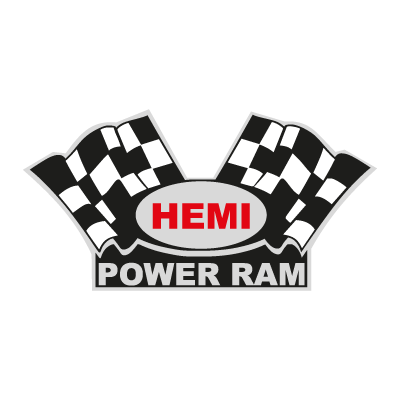 Vector logo Hemi Power Ram vector logo