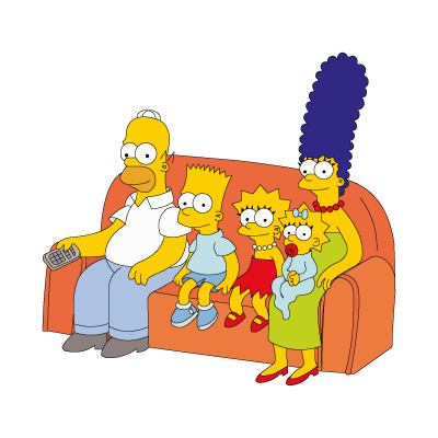 Vector logo Download The Simpsons Family logo vector