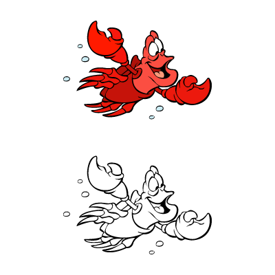 Vector logo Logo The little mermaid – Sebastian vector vector download