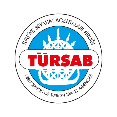 Vector logo Logo Turkiye Seyahat Acentalari Birligi vector download