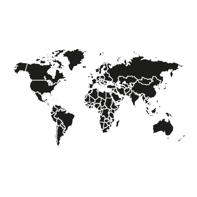 World vector black vector logo