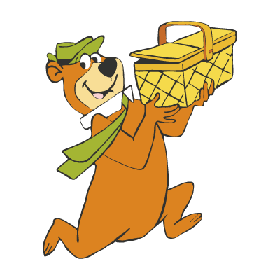 Vector logo Yogi Bear vector