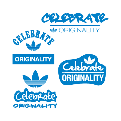 Vector logo Logo Adidas celebrate originality vector download