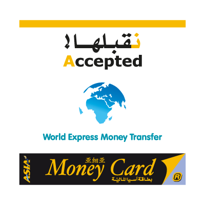 AsiaCard World Express Money Transfer vector logo