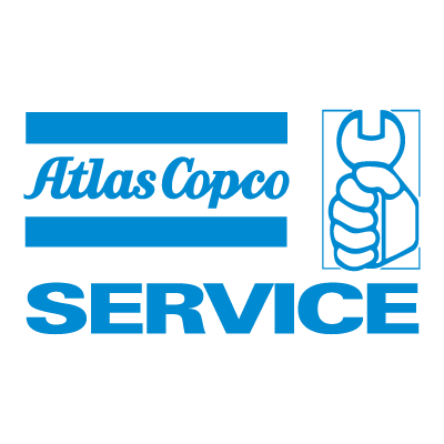 Vector logo Logo Atlas Copco Service vector download