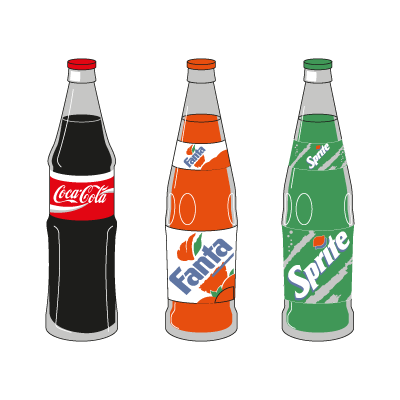 Vector logo Logo Coca-Cola 3 Products vector download