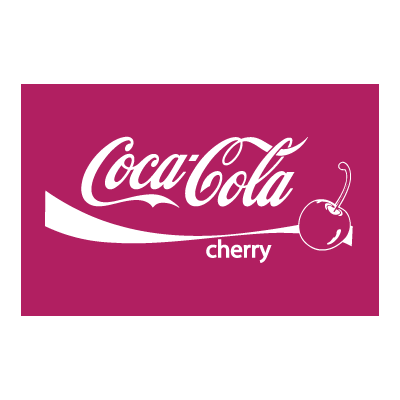 Coca Cola CHERRY logo template