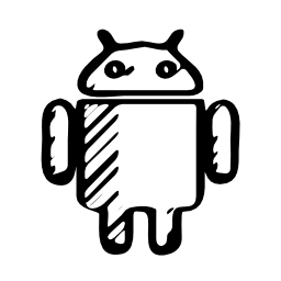 Vector logo Android sketched logo