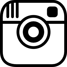 Vector logo Instagram photo camera logo outline