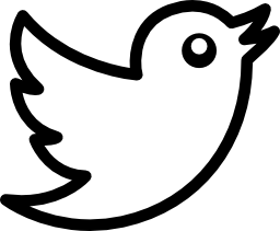 Vector logo Twitter bird logo outline