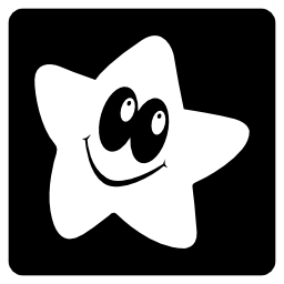 Vector logo Kaixin101 logotype of a smiling star