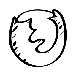 Firefox sketched logo